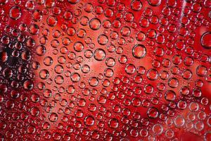 veelvoud van transparante bubbels foto