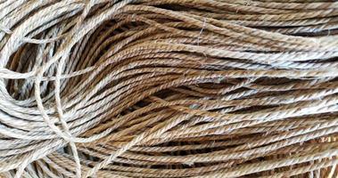 groep hennep touw textuur patroon achtergrond. foto