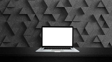 moderne laptop geïsoleerd op een witte achtergrond. foto
