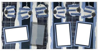 handgemaakte pagina-indeling van plakboekpapier om uw afbeeldingen in te voegen foto