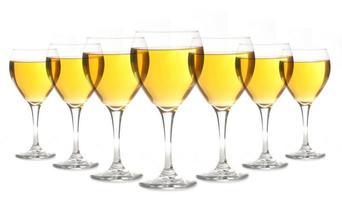 glazen gouden alcohol foto