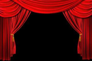 rode gedrapeerde podiumachtergrond foto