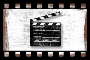 grungy vuile film klepel board van de regisseur foto