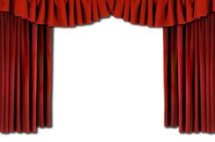 rode horozontale gedrapeerde theatergordijnen foto