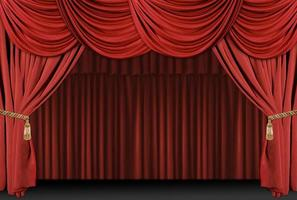 podium theater draperen achtergrond foto