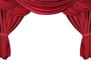 rode gedrapeerde theatergordijnen serie 2 foto