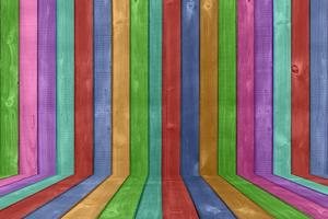 levendige gekleurde houten hek achtergrond foto