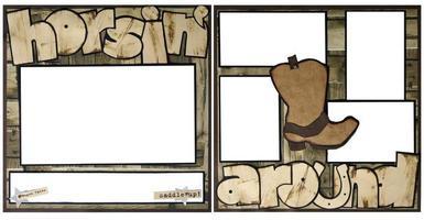 rondscharrelen plakboek frame sjabloon foto