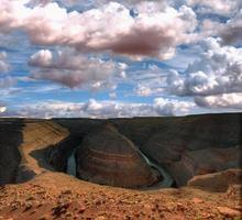 prachtig hoefijzervormig oriëntatiepunt in arizona usa foto