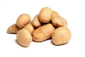 geïsoleerde aardappelen achtergrond foto