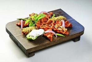traditionele Arabische rauw vlees kofta foto