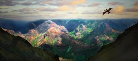prachtig landschap van het eiland kauai hawaii foto