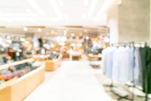 abstracte vervaging winkel en winkel in winkelcentrum foto