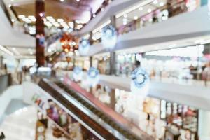 abstract vervagen luxe winkelcentrum en winkel foto
