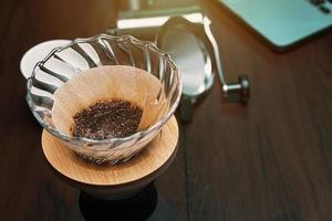 koffiedruppelset het beste voor zelfgemaakte koffie foto