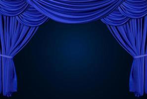 ouderwets, elegant theaterpodium met fluwelen gordijnen. foto