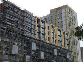 nieuwbouw van een nieuw wooncomplex foto