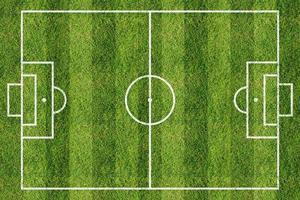 voetbalveld of voetbalveld achtergrond foto