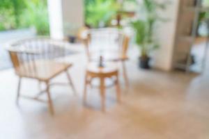 vervagen coffeeshop of café-restaurant foto