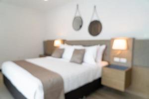abstract vervagen mooie luxe hotel slaapkamer foto
