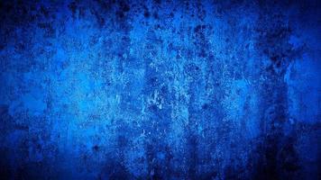 grunge achtergrond van blauwe muur kleur foto