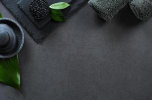 luxe zwarte spa foto