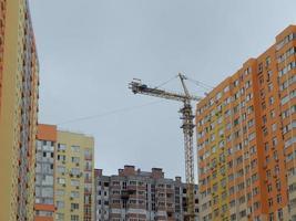 nieuwe gebouwen worden gebouwd residentiële gebouwen foto