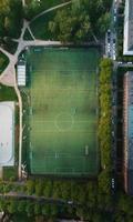 voetbalveld van bovenaf foto