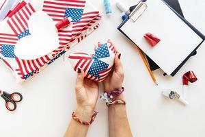 4 juli usa onafhankelijkheidsdag speldenkussen ambacht foto