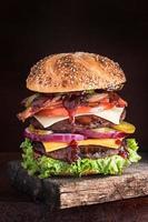 dubbeldekker cheesburger supreme foto