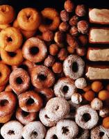 achtergrond van donuts foto