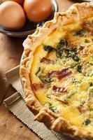 huisgemaakte spinazie en spek ei quiche