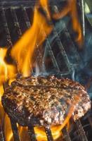 hamburgers koken foto