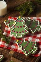 feestelijke zelfgemaakte kerstkoekjes