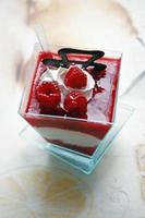 frambozenroom dessert foto