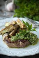 chimichurri steak foto