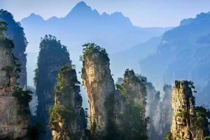 landschap van zhangjiajie foto