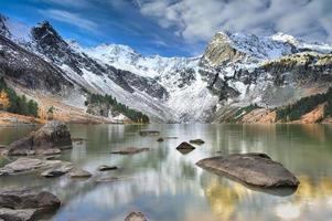 landschap altai bergen foto