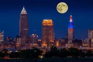maan boven Cleveland