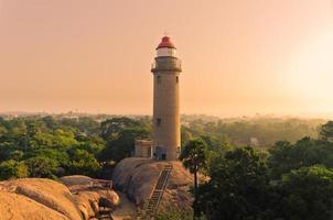 vuurtoren - mamallapuram foto