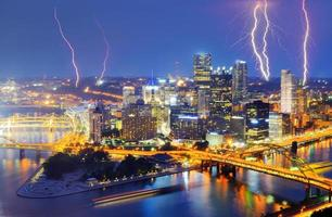 Pittsburgh bliksem foto