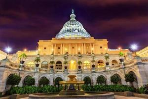 ons capitol zuidzijde fontein nacht sterren washington dc foto