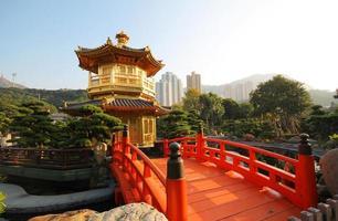 het paviljoen nan lian tuin hong kong foto