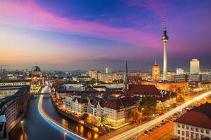 de skyline van Berlijn, Duitsland foto