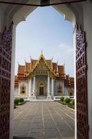 Bangkok. de marmeren tempel. foto