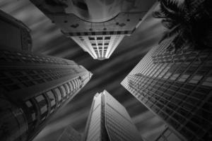 hoge gebouwen van hongkong foto