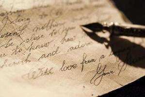 oude liefdesbrief foto
