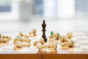 schaken bedrijfsconcept, leider en succes