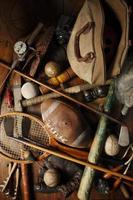 antieke sportieve memorabilia. foto