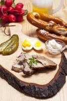 koud Beiers gebraden varkensvlees in plakjes